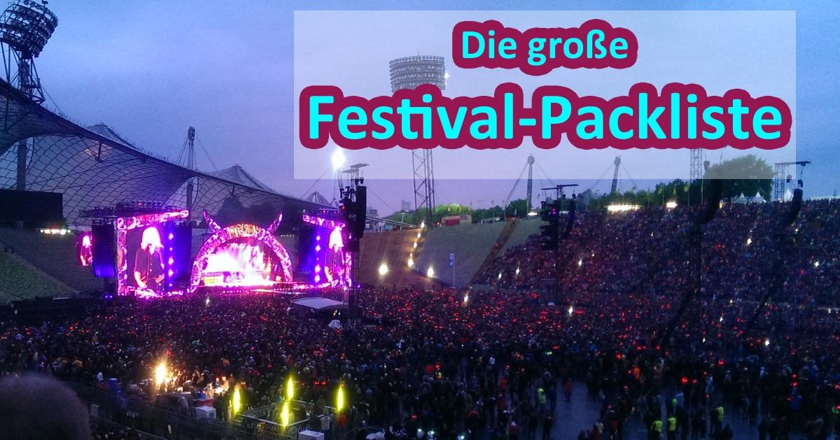 Die große Festival-Packliste
